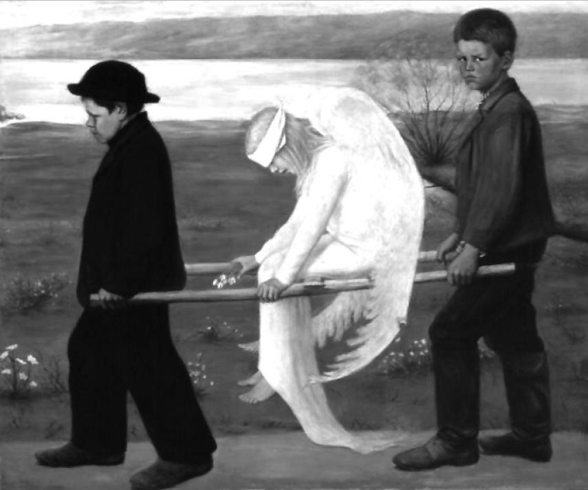 работа финского художника Хуго Симберга «Раненый ангел»