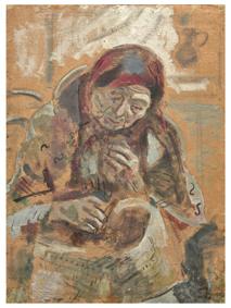 работа Марка Шагала «Старушка с корзинкой»