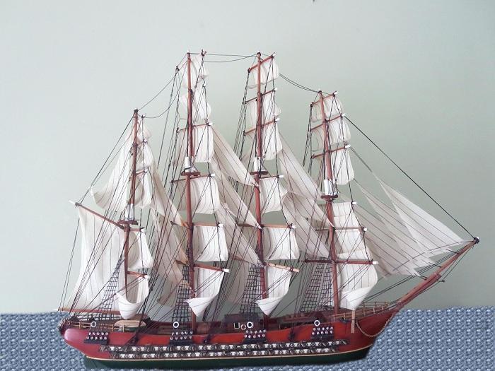 Четырехмачтовый фрегат