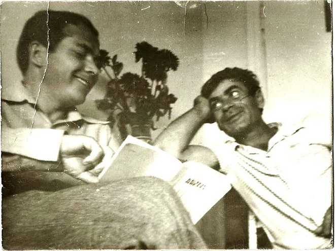 Николай Ерёмин слева и Валентин Коллар