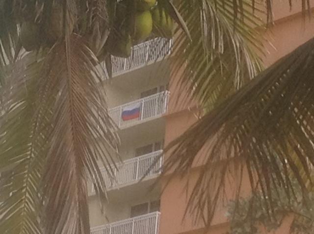 Флаг России над Майами