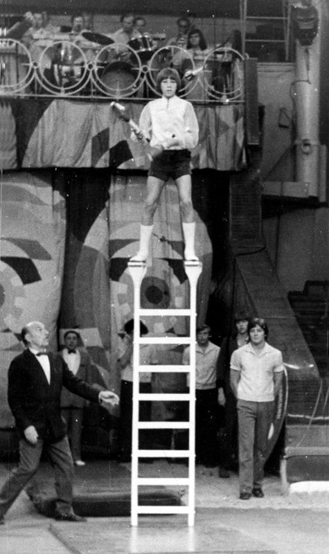Григорий Попович – дебют в цирке, 1977 год.