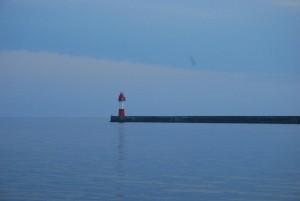 один из черноморских маяков, порт Сочи