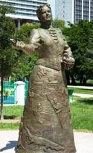 бронзовый памятник Джулии Де Форест Таттл