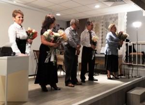 Слева – направо: Майя Безбородная, Елена Фельдмус, Михаил Эстис, Леонид Лейдерман, Ирина Павлова.