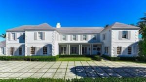 Большой, красивый белый дом, похожий на дворец...
