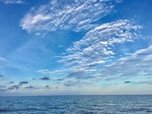 Это - цвет Атлантики в середине февраля