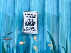 Парковка только для пиратов.