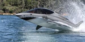 Летающий дельфин, похожий на акулу